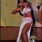 White Costumed Belly Dancer