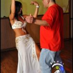 Belly Dancer in White Costume