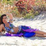 NJ Belly Dancer Sasha on the Beach